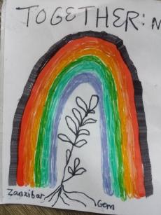 Rainbow Logo designed by kuwa jasiri