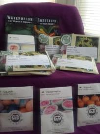 10 varieties of Diné Ancestral Seeds. Watermelon, Squash, Agastache, Melon, Corn, Yellow Melon,