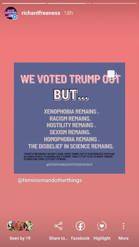 pink on blue trump out but all these -isms and -phobias remain