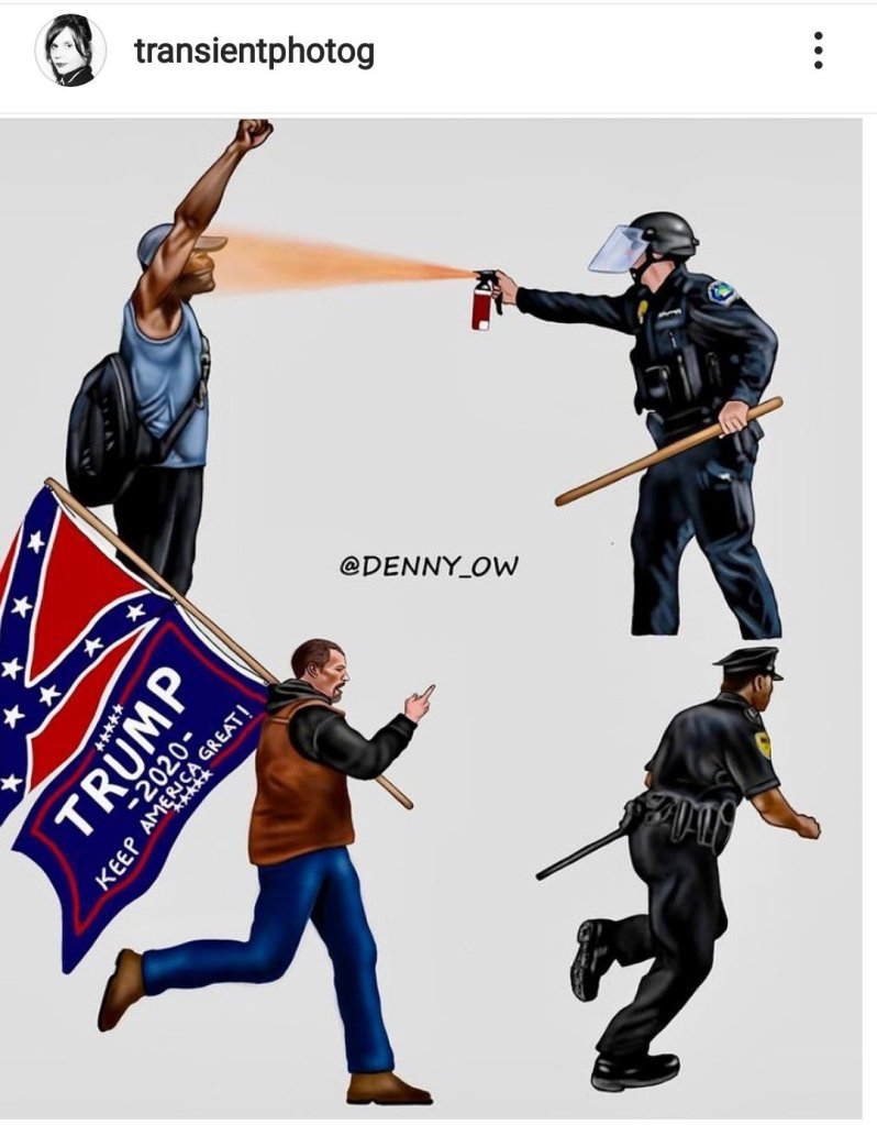 Capital Riots versus Black Lives Matter protests