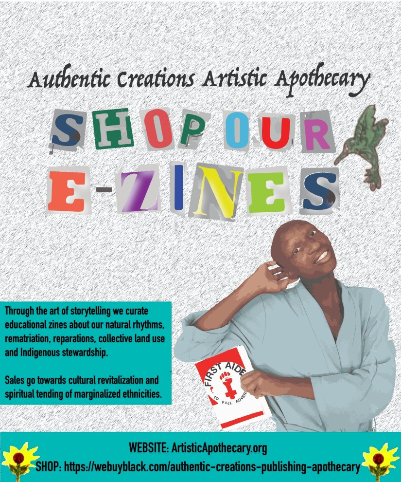 Shop our zines in colourful cut out letters. kuwa jasiri leans on a zine