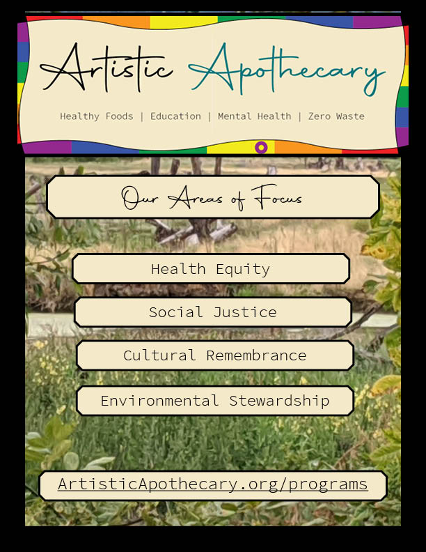 Nature Background. Our areas of Focus: Health Equity, Social Justice, Cultural Remembrnace, Environmental Stewardship